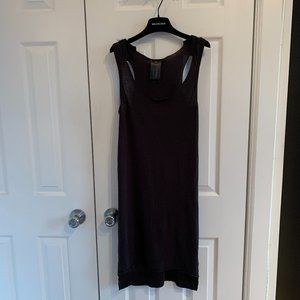 IMPROVD • Raw Hem Distressed Off Black Tank Dress